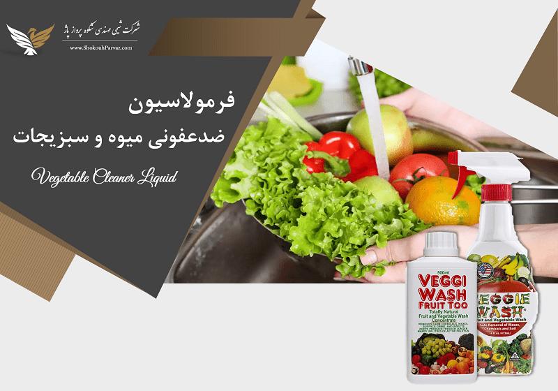 فرمولاسیون ضدعفونی کننده میوه و سبزیجات